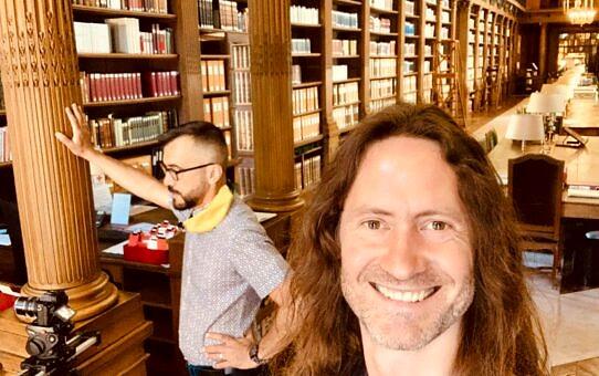 Avec Stéphane Cascino à l'Académie