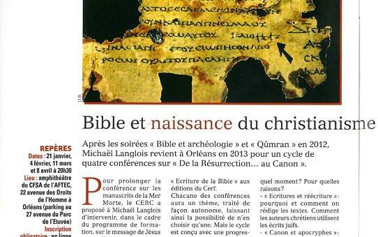 Catholiques dans le Loiret n° 12, janvier 2013, p. 20