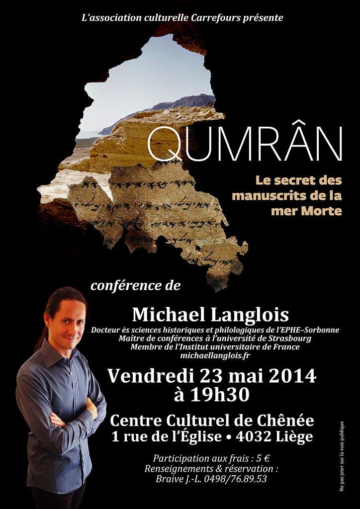 Conférence Qumrân 23 mai 2014 Liège