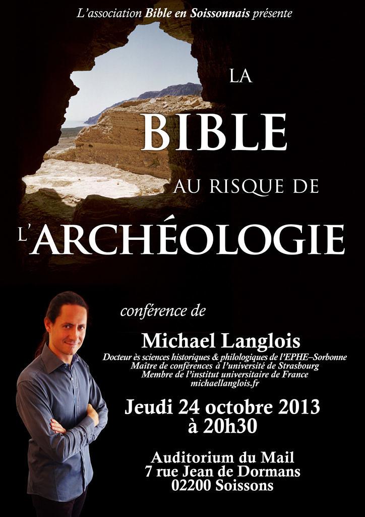 La Bible au risque de l'archéologie, Soissons, 24 octobre 2013
