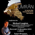 Conference Qumran 10 decembre 2014 Paris web
