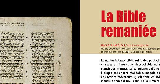 Langlois 2012 La Bible remaniée bannière