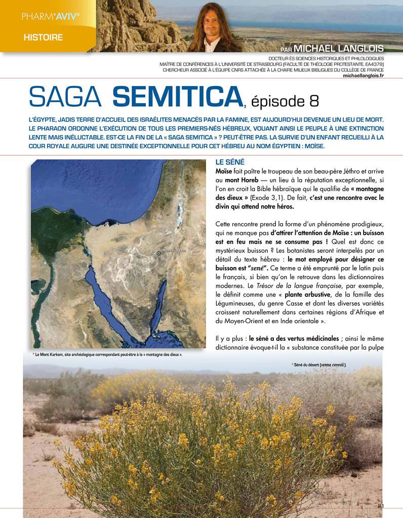 Saga Semitica, épisode 8 in Pharm'Aviv 134 p. 21-23