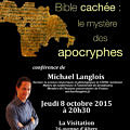 Conférence Langlois Apocryphes 8 octobre 2015 Chartres