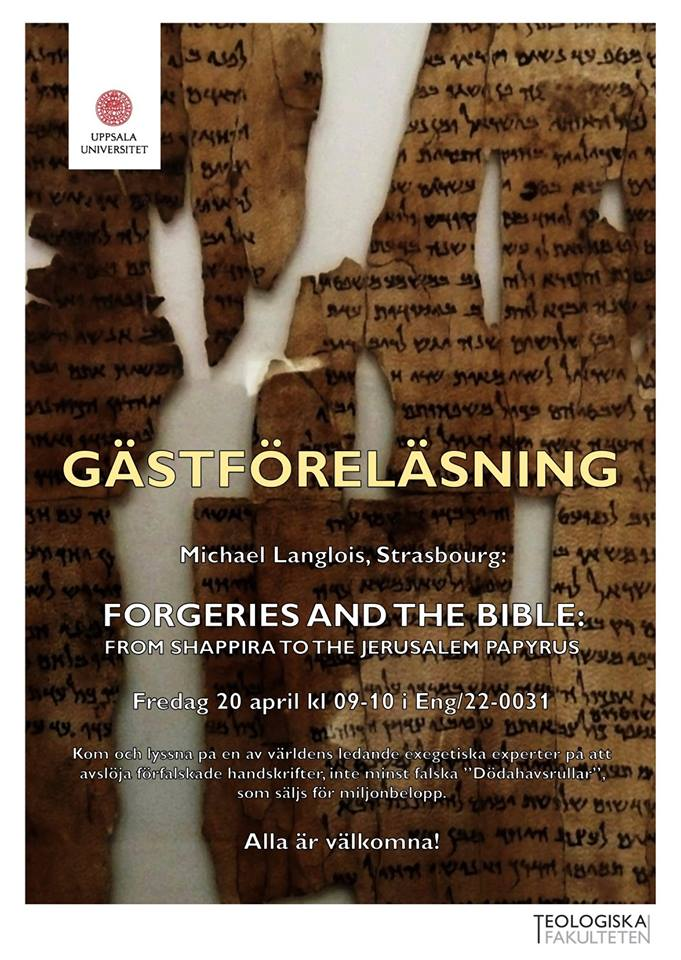 Forgeries and the Bible -- Michael Langlois