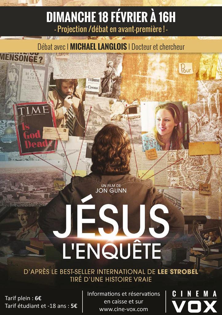 thumbnail of Jésus l'enquête, avant-première au Cinéma Vox avec Michael Langlois