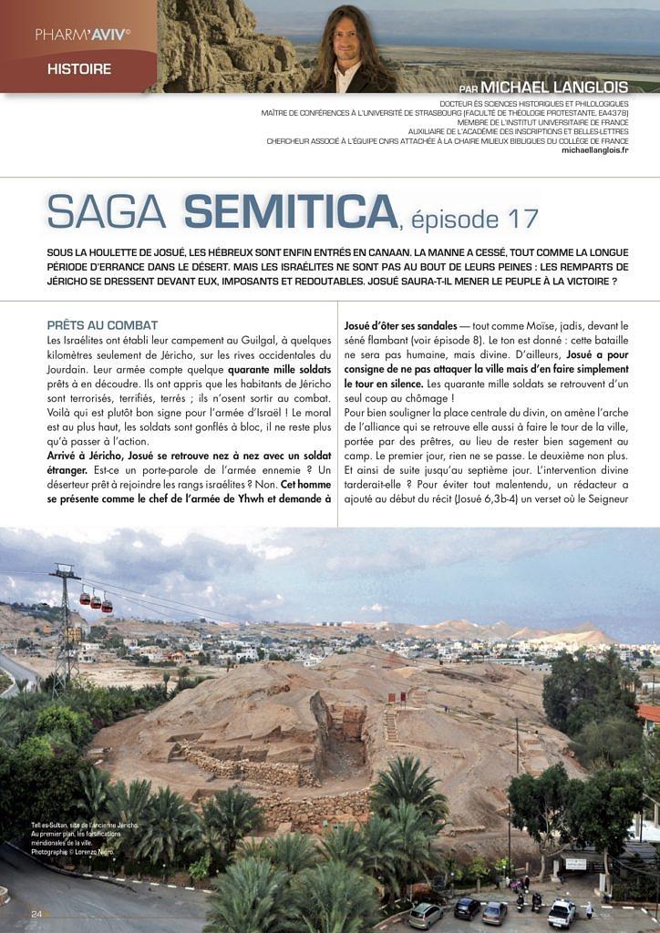 Michael Langlois, Saga semitica épisode 17, Pharm'Aviv 143, juin 2015, p. 20-22 (et non 24-26)