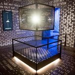 "An exhibit on the Ark of the Covenant is seen in the ""Journey through the Hebrew Bible"" exhibit during a media preview of the new Museum of the Bible, a museum dedicated to the history, narrative and impact of the Bible, in Washington, DC, November 14, 2017. / AFP PHOTO / SAUL LOEBSAUL LOEB/AFP/Getty Images"