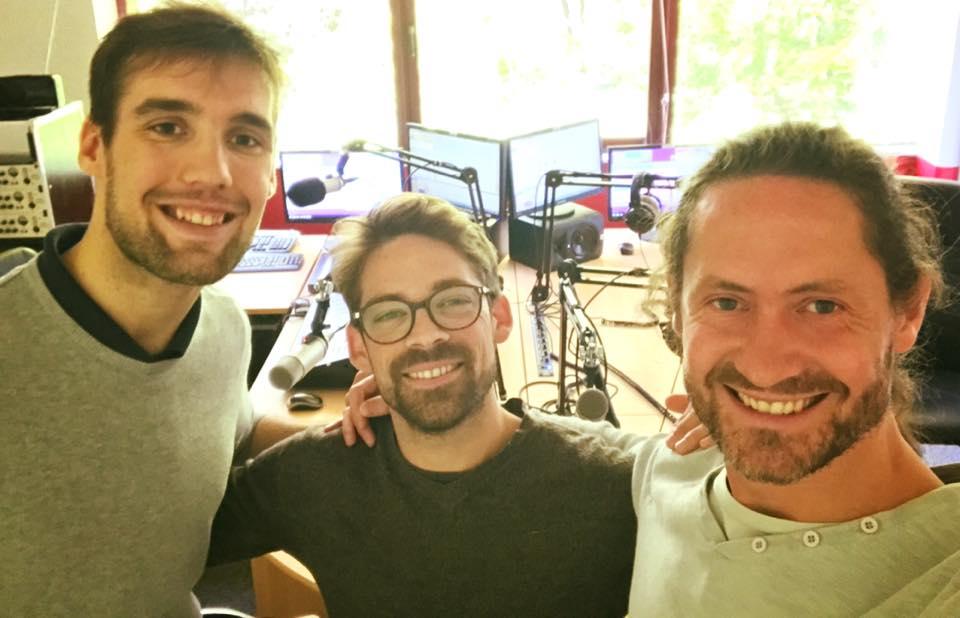 Thierry Weber, Thibault Foulon, Michael Langlois à Radio Arc-en-Ciel